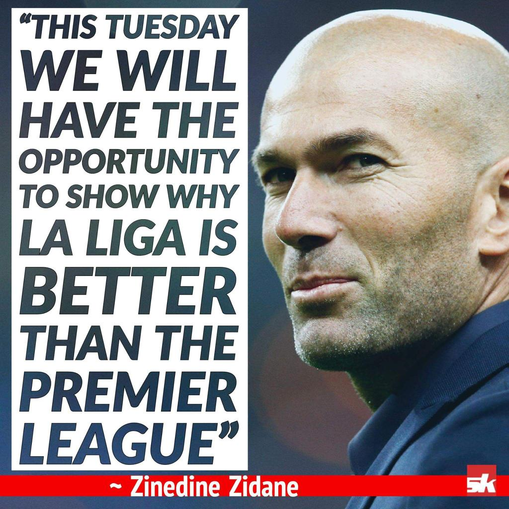 #ChelseaFC beat #Atletico away   #Spurs drew with #RealMadrid away  Premier League &gt;&gt; La Liga  Too much of talking Zidane  #PL #CFC #THFC<br>http://pic.twitter.com/6SyGUCy44d