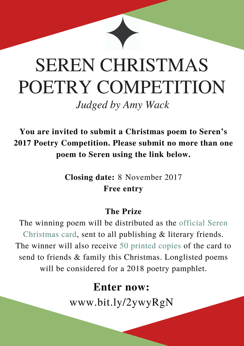 seren books on twitter calling all poets our christmas poetry competition 2017 is open for entries submit your poem for free httpstcostpk1bh0zp - Christmas Poetry