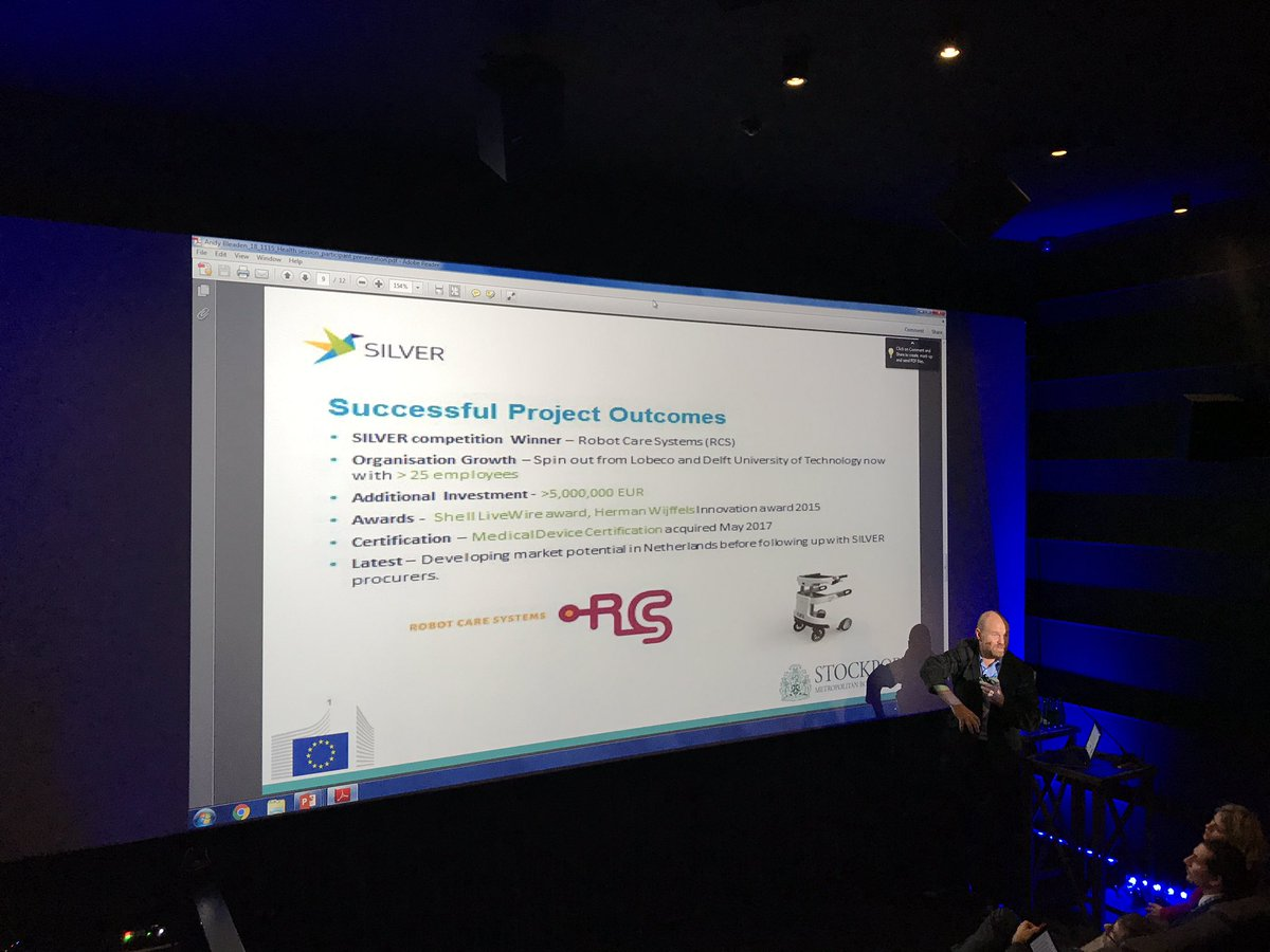 @andybleaden talking about the successful @innovateuk coordinated @SILVERPCP @EU_Commission @eafip_eu #eu2017ee @RobotCareSystem @EIP_AHA<br>http://pic.twitter.com/lGDzQOuRzz