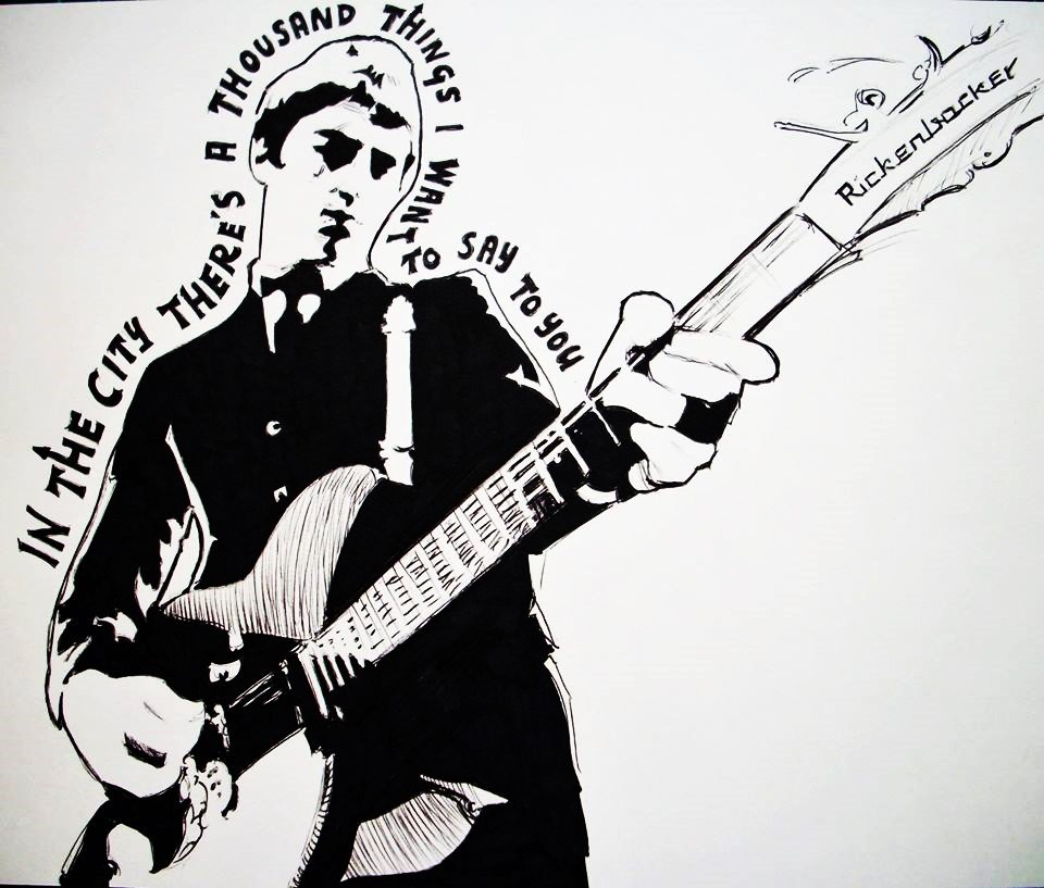 A little Weller sketch I did for a 2 hour drawing challenge #thejam #paulweller #inthecity #sketch #rickenbacker #drawing #mod<br>http://pic.twitter.com/KQHDxkkUbU