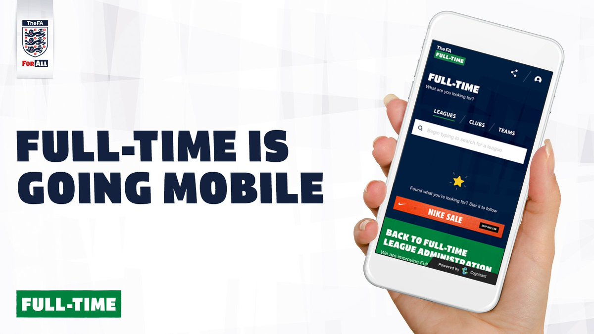 Grassroots football at your fingertips.   @FA Full-Time is going mobile, coming soon... #Full-Time <br>http://pic.twitter.com/bh3H8APu8N