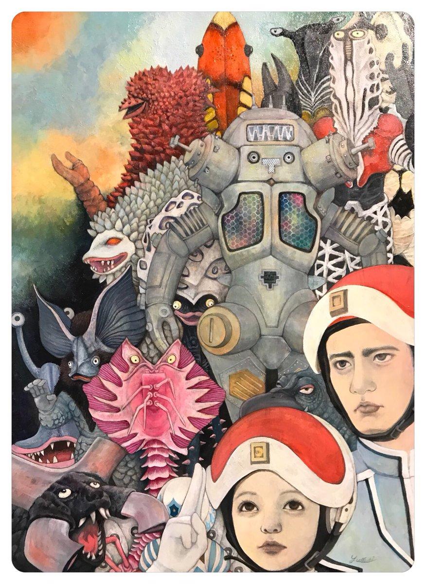 明日から始まる、ウルトラセブン放送開始50年特別企画展「70 CREATORS' SEVEN」の内覧会にきています。「ウルトラ怪獣」描きました(*´◒`*)https://t.co/h4uh2n3IOx… #70ウルトラセブン https://t.co/25t6ltC1JZ