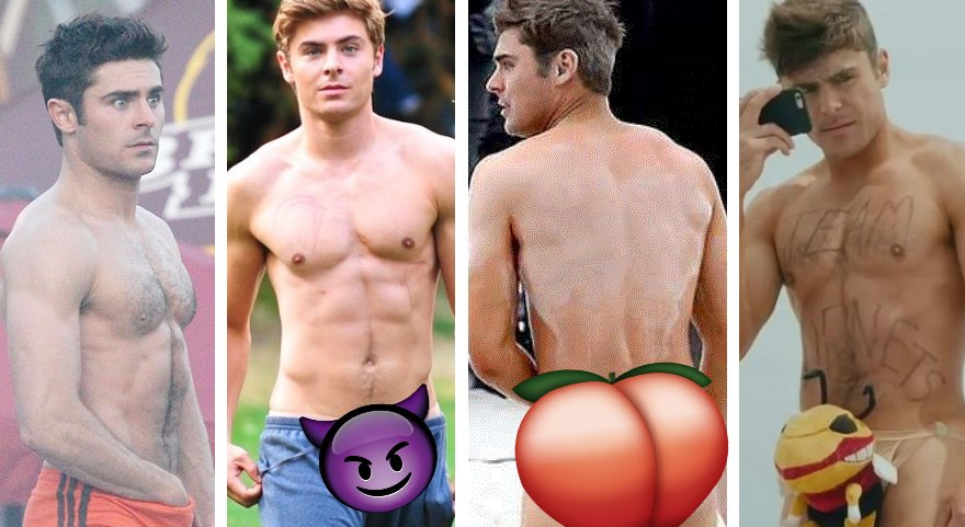 The hottest pictures of Zac Efron as the High School Musical star turn...