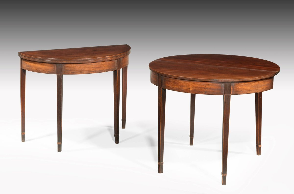 Just added! Pair of George III period mahogany demilune card tables with fine line inlay  http://www. windsorhouseantiques.co.uk/stock/d/pair-o f-george-iii-period-mahogany-demilune-card-tables-with-fine-line-inlay/300711 &nbsp; …  #interiorismo #antiques<br>http://pic.twitter.com/HIRfhAPs0U