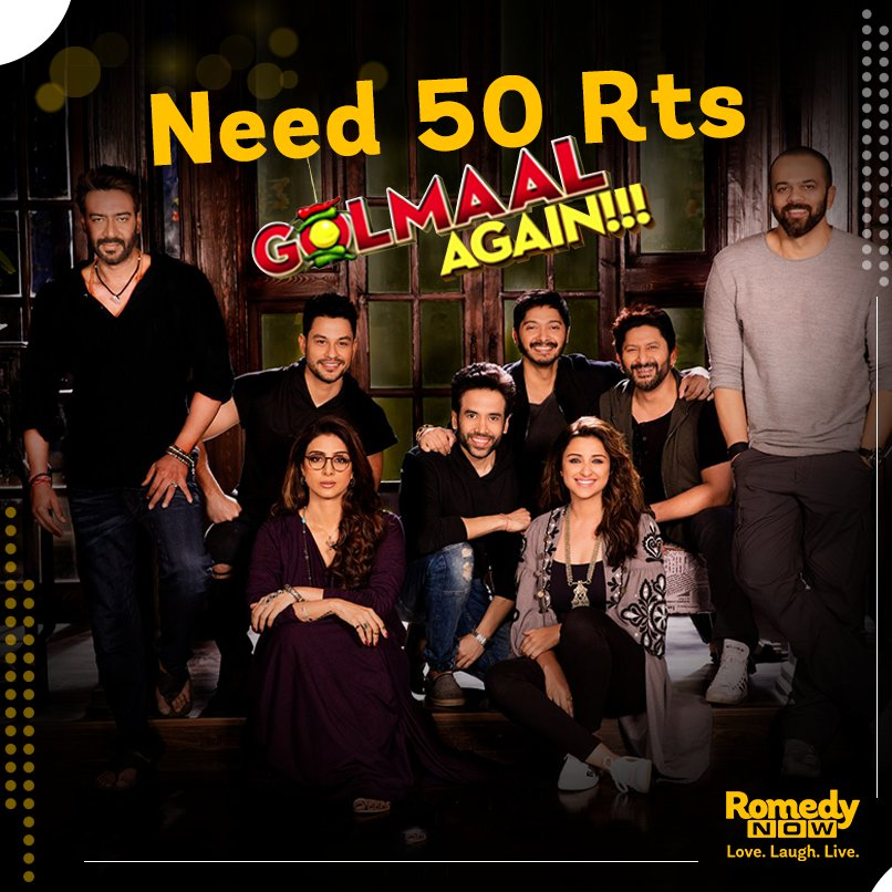 RT &amp; invite all your crazy friends in this #Crazy journey! #GolmaalAgainOnRN @RelianceEnt @GolmaalMovie<br>http://pic.twitter.com/cOyzJ5CG9n
