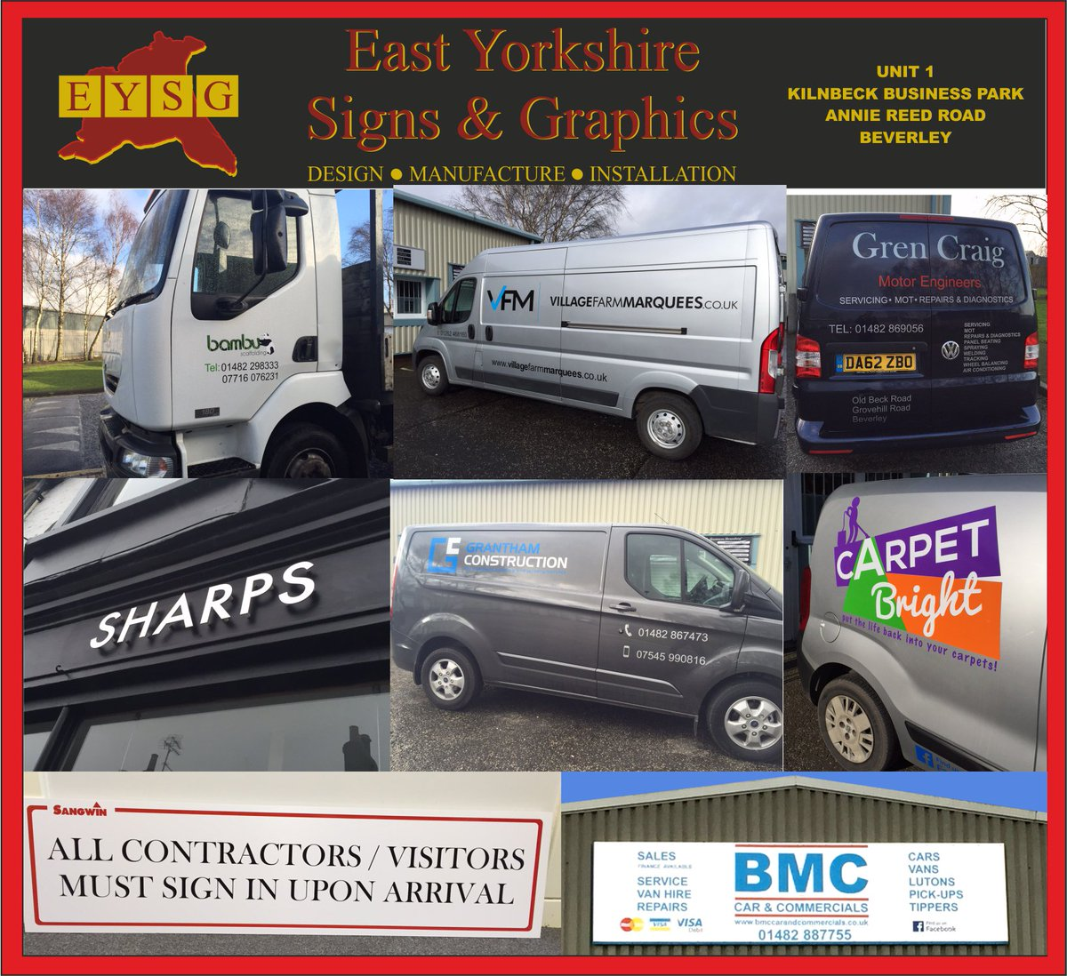 #Designers and #manufacturers of #signage &amp; #vehicle #graphics. Contact us on 01482 862266 or enquiries@eysg.co.uk  http:// eysg.co.uk  &nbsp;  <br>http://pic.twitter.com/u43VEBI9Mb