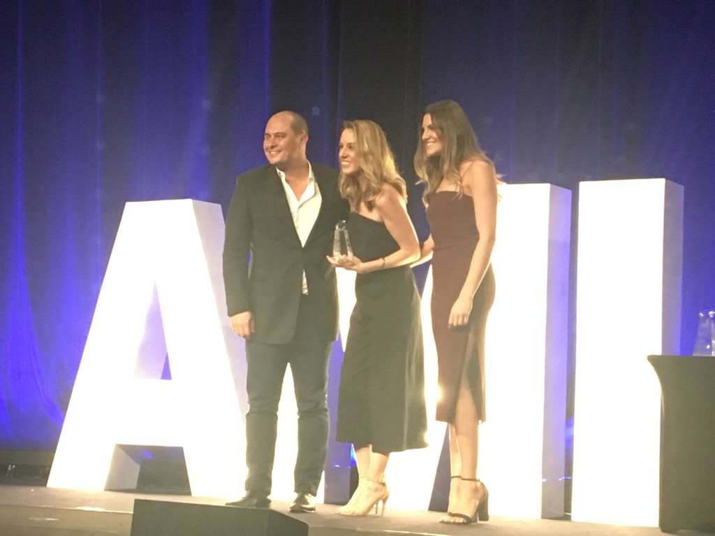 Paul Chan, presenting the Integrated Communications award to QIC Robina at the #AmiAwards2017 for their great  work with #thekitchens https://t.co/KJRKFFfEaN