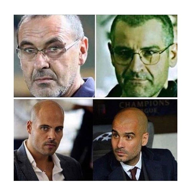 Sarri e la foto con Guardiola. L'ironia di Salvatore Esposito di Gomorra - https://t.co/k3ReTP7gjx #blogsicilianotizie #todaysport