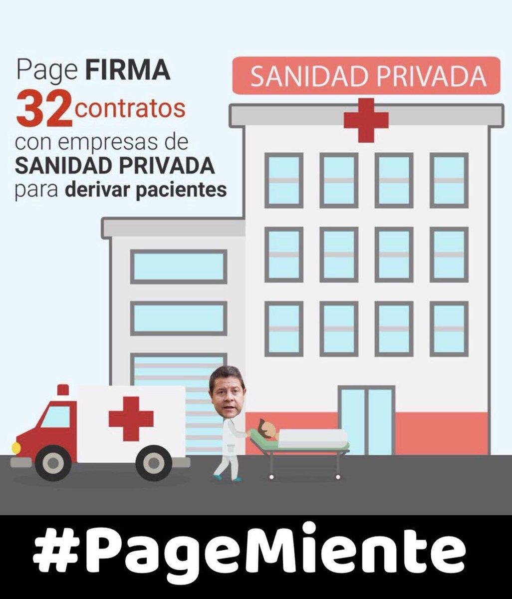 🔊 Page privatiza la sanidad en #CLM con el apoyo de Podemos #PageMient...