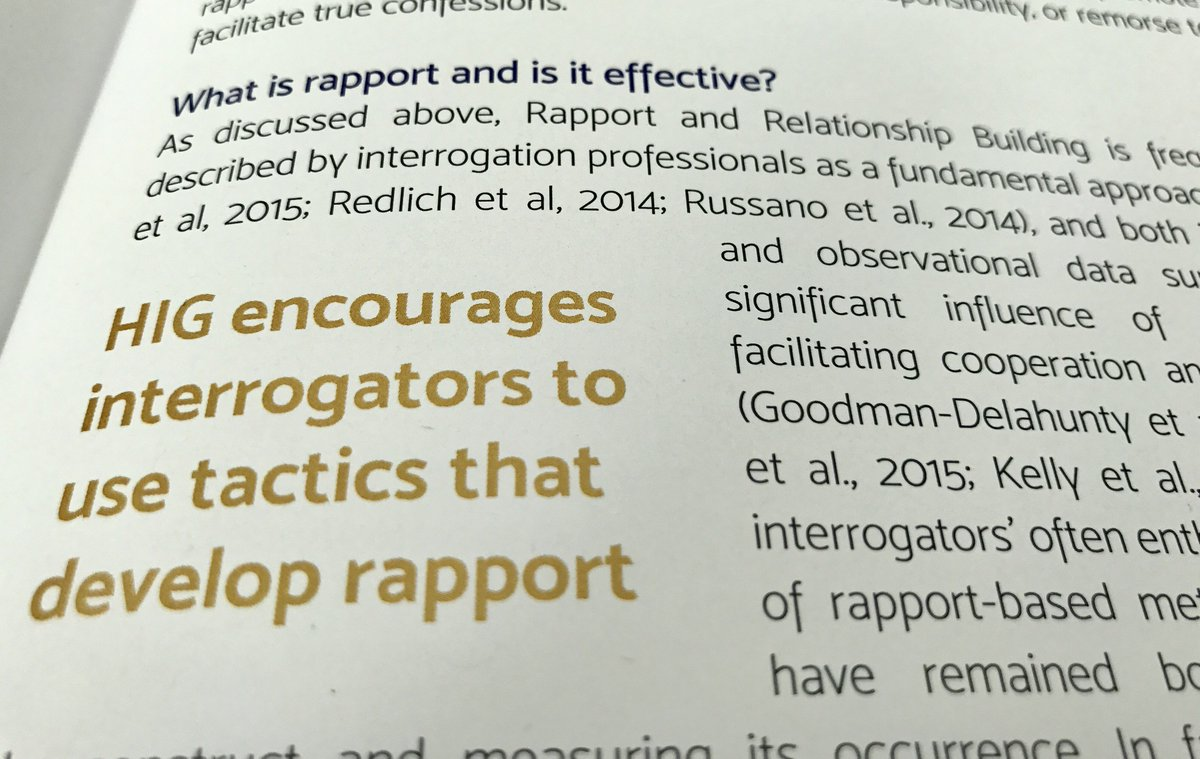 What is rapport