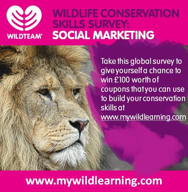 Join the conversation on #SocialMarketing for #Wildlife #Conservation by taking this #survey. Please RT  https:// docs.google.com/forms/d/e/1FAI pQLScofeEOA8QcgvO6J8-1fC_11ThHWm9_AiPEdTt2CRQ_ea7iJA/viewform?usp=sf_link &nbsp; … <br>http://pic.twitter.com/NKPrTaLphP