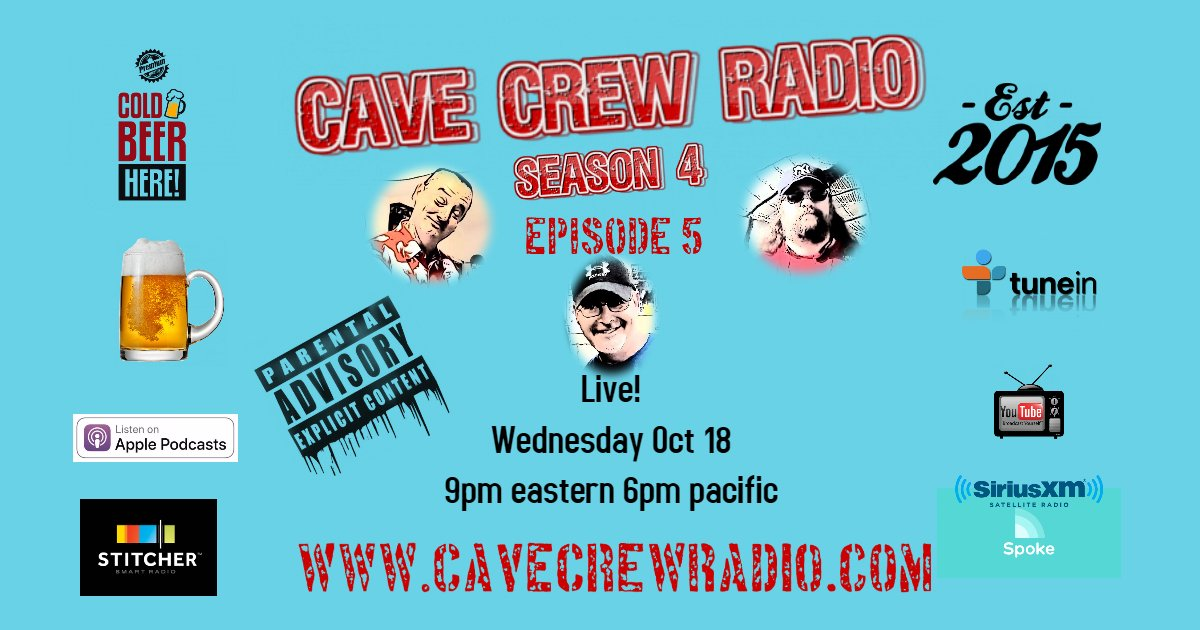 #Special Wednesday  show.  Live 9pm eastern #ListenAndLive #Chat  #Watch    http://www. cavecrewradio.com/listen-live/  &nbsp;    #PodernFamily #podecho #CCR #HumpDay <br>http://pic.twitter.com/tB81ri4qcz