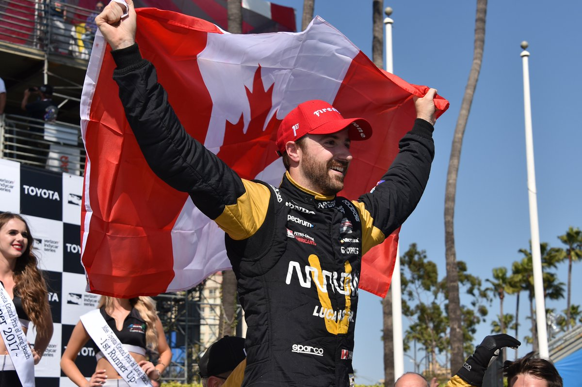 .@Hinchtown sign multi-year contract extension with @SPMIndyCar! Congratulations, James!