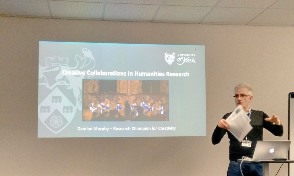 Exploring relations between creativity &amp; the Humanities with @SoundLabArtist and others at York today #Research #Humanities <br>http://pic.twitter.com/CFEMROCizI