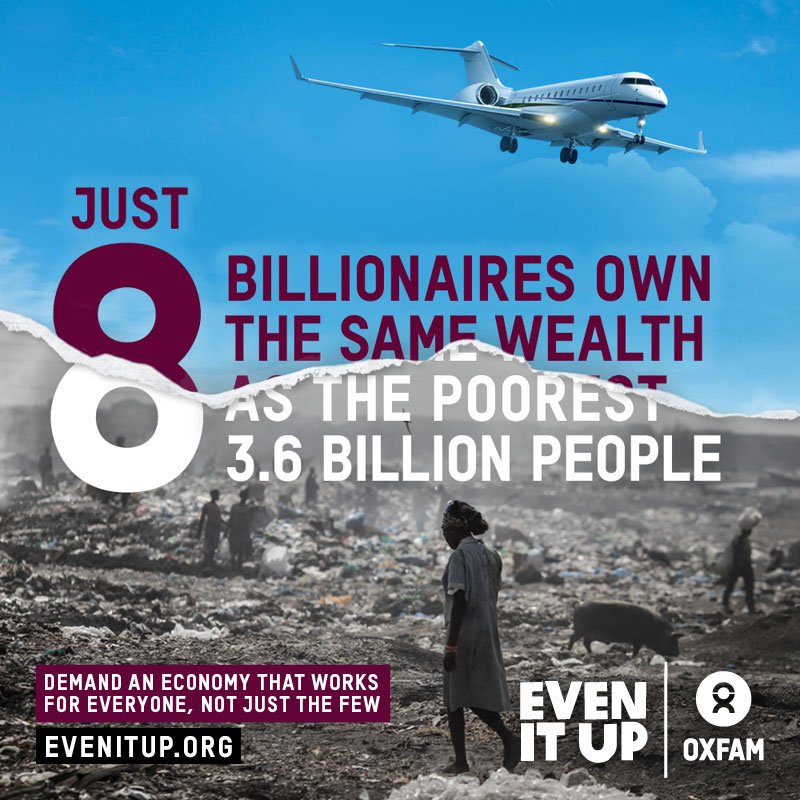 Levels of #Inequality, beyond time to #EvenItUp as we also hear that the number of people going hungry in the world is rising #RightToFood<br>http://pic.twitter.com/5qTnj6DTo9