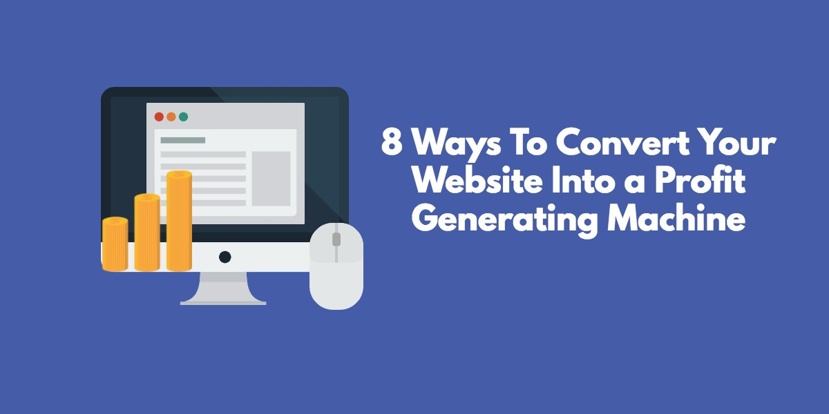 8 Ways To Convert Your Website Into a Profit-Generating Machine https://t.co/t8rBKsmJdr via @ModGirlMktg @MandyModGirl #conversion