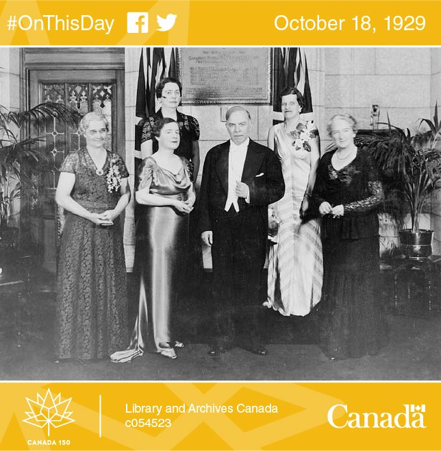 """#OnThisDay 1929: London recognizes women as """"persons."""" Photo: 1938 #Canada150  #claimyourplace  @Women_Canada  http:// ow.ly/CiNb30fUVKp  &nbsp;  <br>http://pic.twitter.com/bAEw9dt2Ms"""
