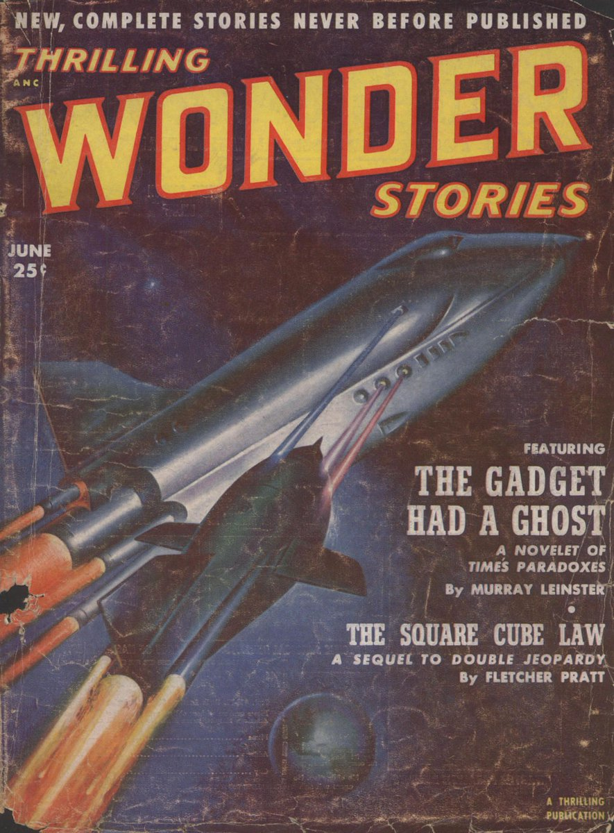 Thrilling Wonder Stories vol 40 no 2, June 1952. Cover by Earle Bergey.  http:// bit.ly/2yzrB47  &nbsp;   #scifi #sciencefiction #1950s<br>http://pic.twitter.com/ZAgXnFhAfq