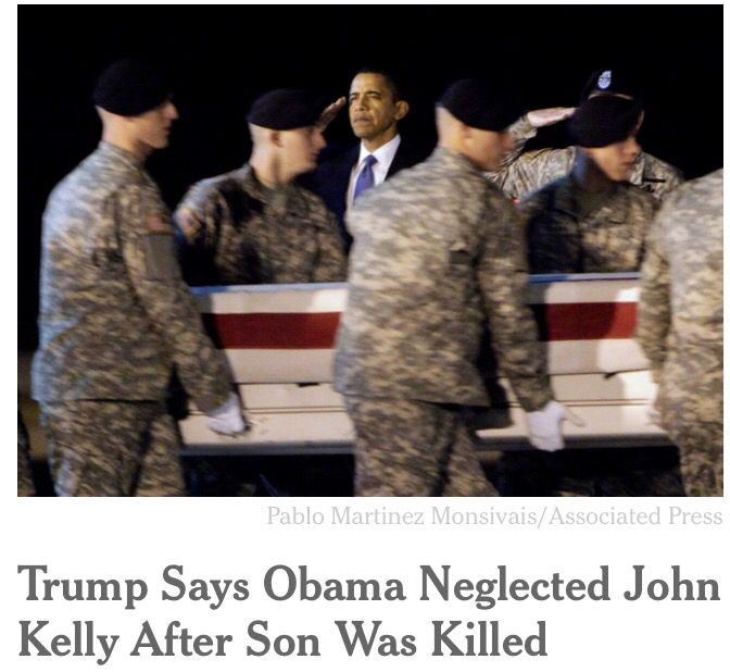 As articles on Trump&#39;s accusation pile up, so do mountains of photos of #Obama honoring wounded &amp; fallen #troops. @AP @nytimes<br>http://pic.twitter.com/DZ74EeEbbV