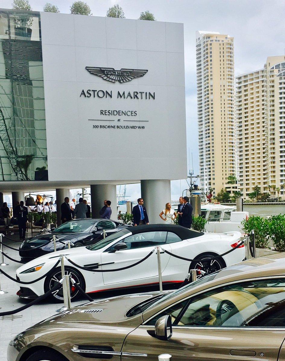 David Prodger On Twitter Great Miami Groundbreaking For Aston - Aston martin dealer miami