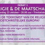 Op 23 okt. het 3e Debat in de Stad over Religie & de maatschappij. Trinitatiskapel 20.00 uur. Meer info: https://t.co/jPrMszZ4BK