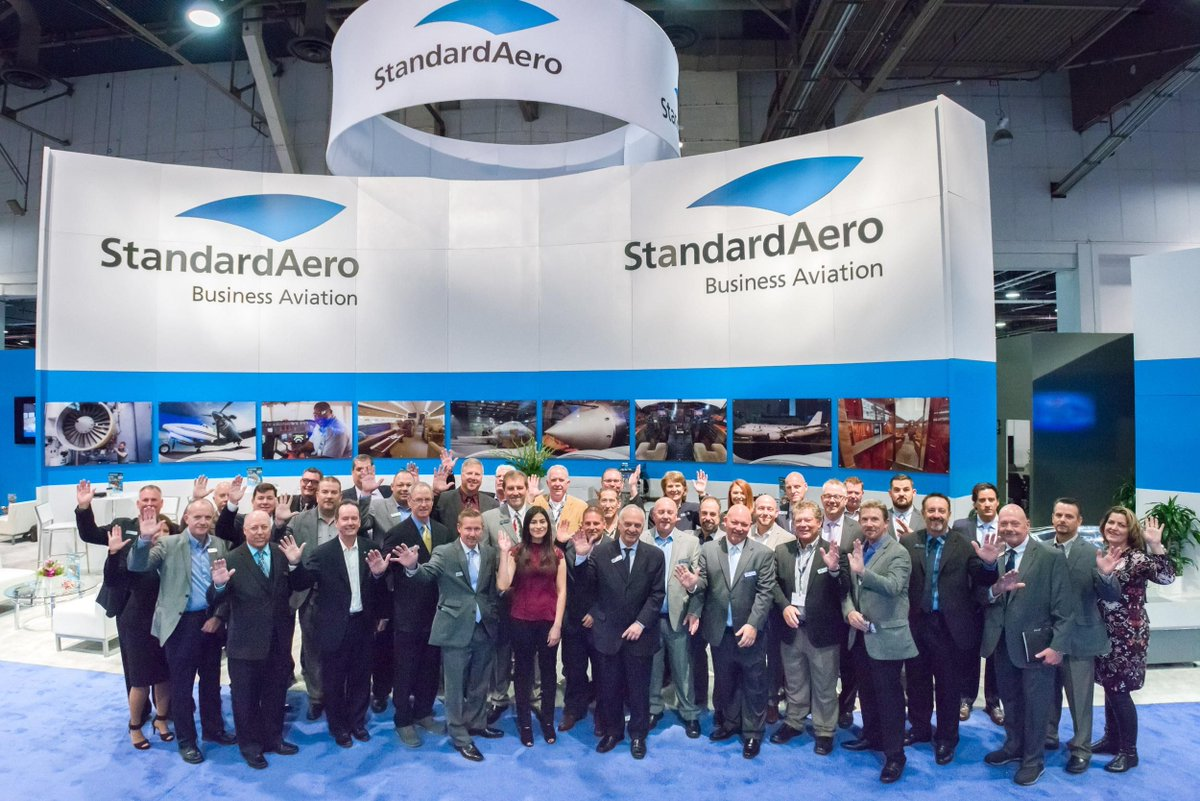Thank you @Standardaero for being gracious hosts &amp; displaying our Simplicity &amp; Command products at #NBAA17. We appreciate your partnership! <br>http://pic.twitter.com/M8Ot1RG2Yz
