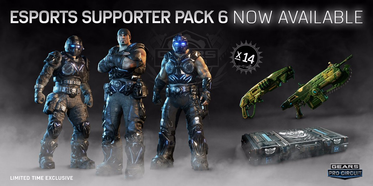 gears of war esports on twitter announcing esports supporter pack