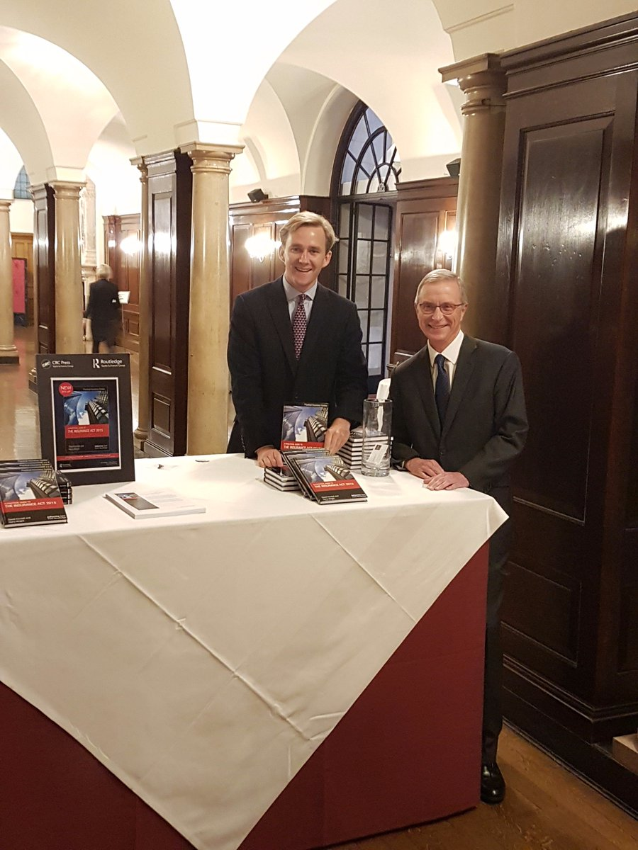 test Twitter Media - Harry Wright and David Kendall at their  book launch this evening - A Practical Guide to The Insurance Act 2015 @CooleyLLP @7KingsBenchWalk https://t.co/ykA96UnLMt
