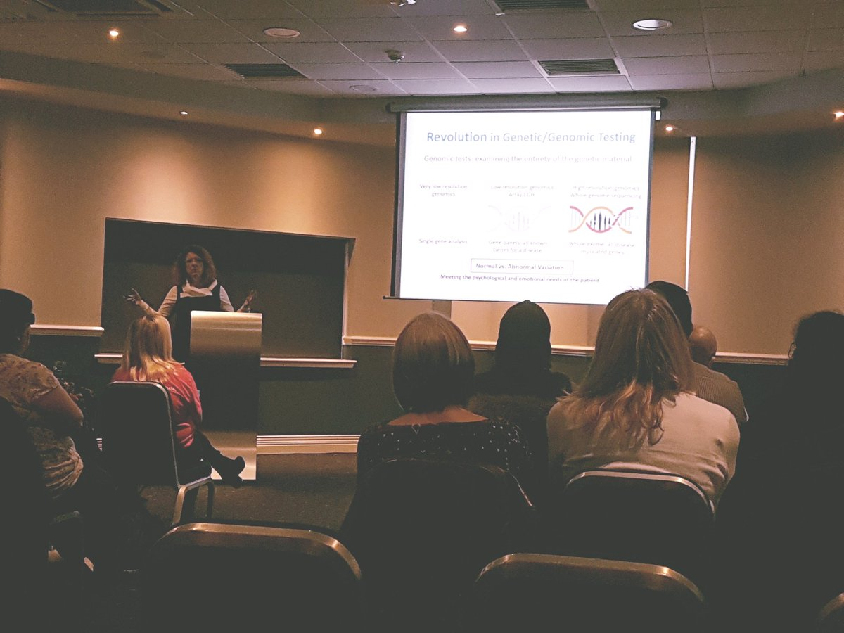 Dr Annie Procter at @WalesGenePark, talking about progress in psychiatric #genetics...&amp; that it isn&#39;t all about #testing #mentalhealth<br>http://pic.twitter.com/J9TGfs6YQV