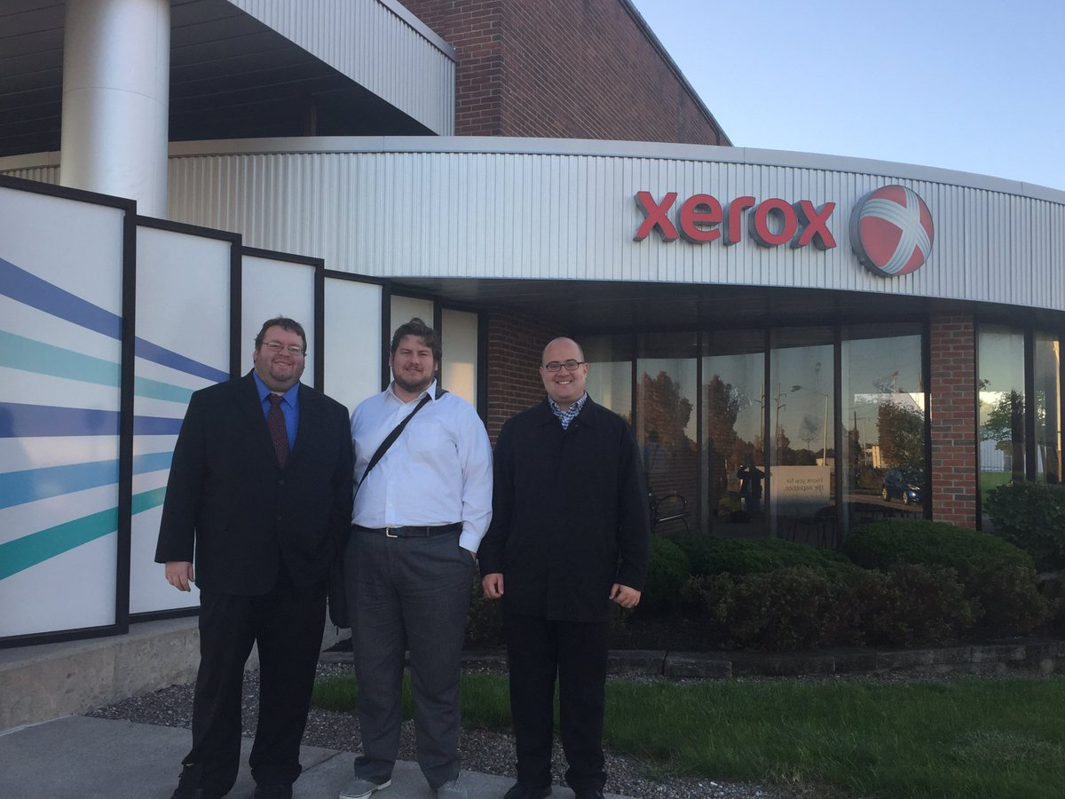 Joshua, Michael and Marshal are at the @Xerox #App Developers Conference in #RochesterNY this week!  @XeroxOffice  #xerox<br>http://pic.twitter.com/TKUtlS5Met