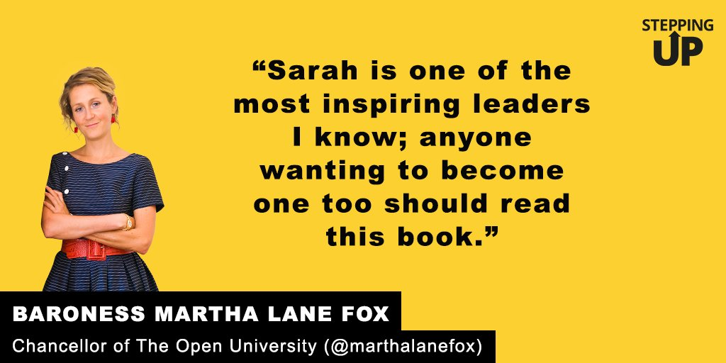 """Anyone wanting to be an inspiring leader should read this book!"" @Marthalanefox on #SteppingUp https://t.co/eTt023axVS"