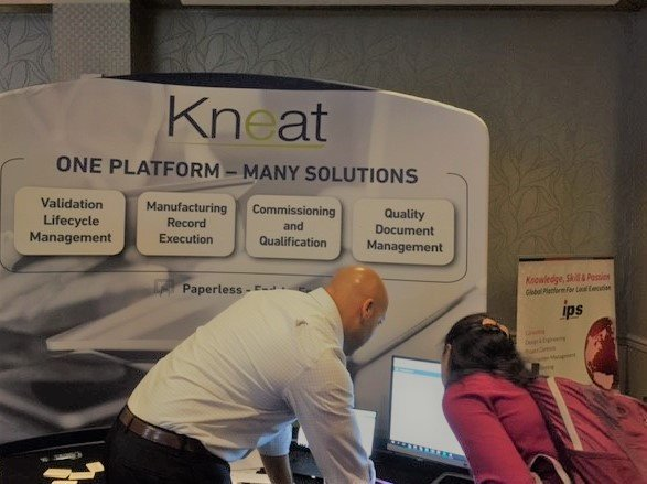 Great first day at #IVT #Validation Week in Philadelphia as Derek demonstrates the latest release of Kneat Gx. Stop by the booth for a demo.<br>http://pic.twitter.com/V7SkYShsii