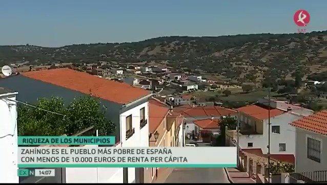 Lo dice la Agencia Tributaria: #Zahínos es el pueblo más pobre de #España y otros 6 municipios extremeños le acompañan en el triste ránking. https://t.co/SOq0U8KGCk