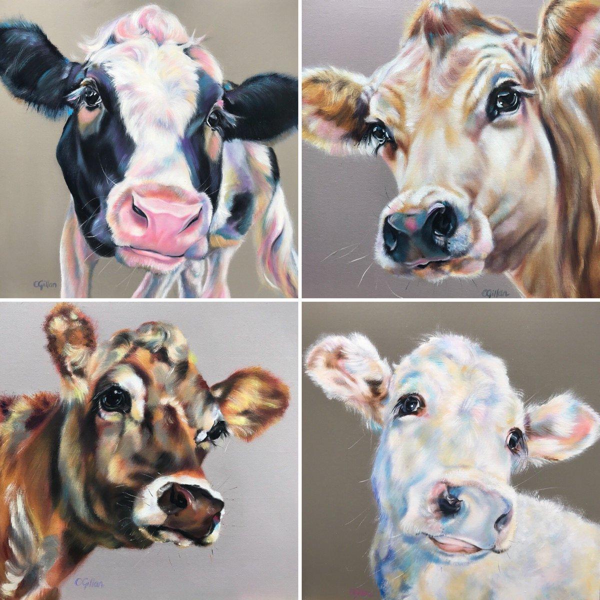 available from  http://www. creativefineart.co.uk  &nbsp;   Please contact for details #cows #farm #artist #contemporaryart #farrowandball #gallery #originalart<br>http://pic.twitter.com/32Du0MLHbX