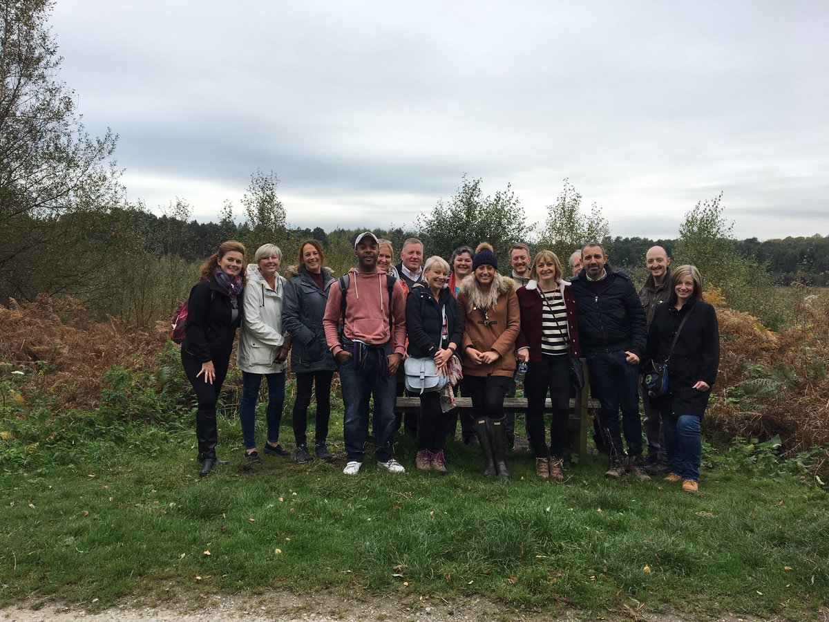 Incredible #NetwalkYourNetwork today, 17 businesses walking 4.23km and talking business in Delamere Forest #networking #wellbeing #feelgood <br>http://pic.twitter.com/rBm4eVJjWJ
