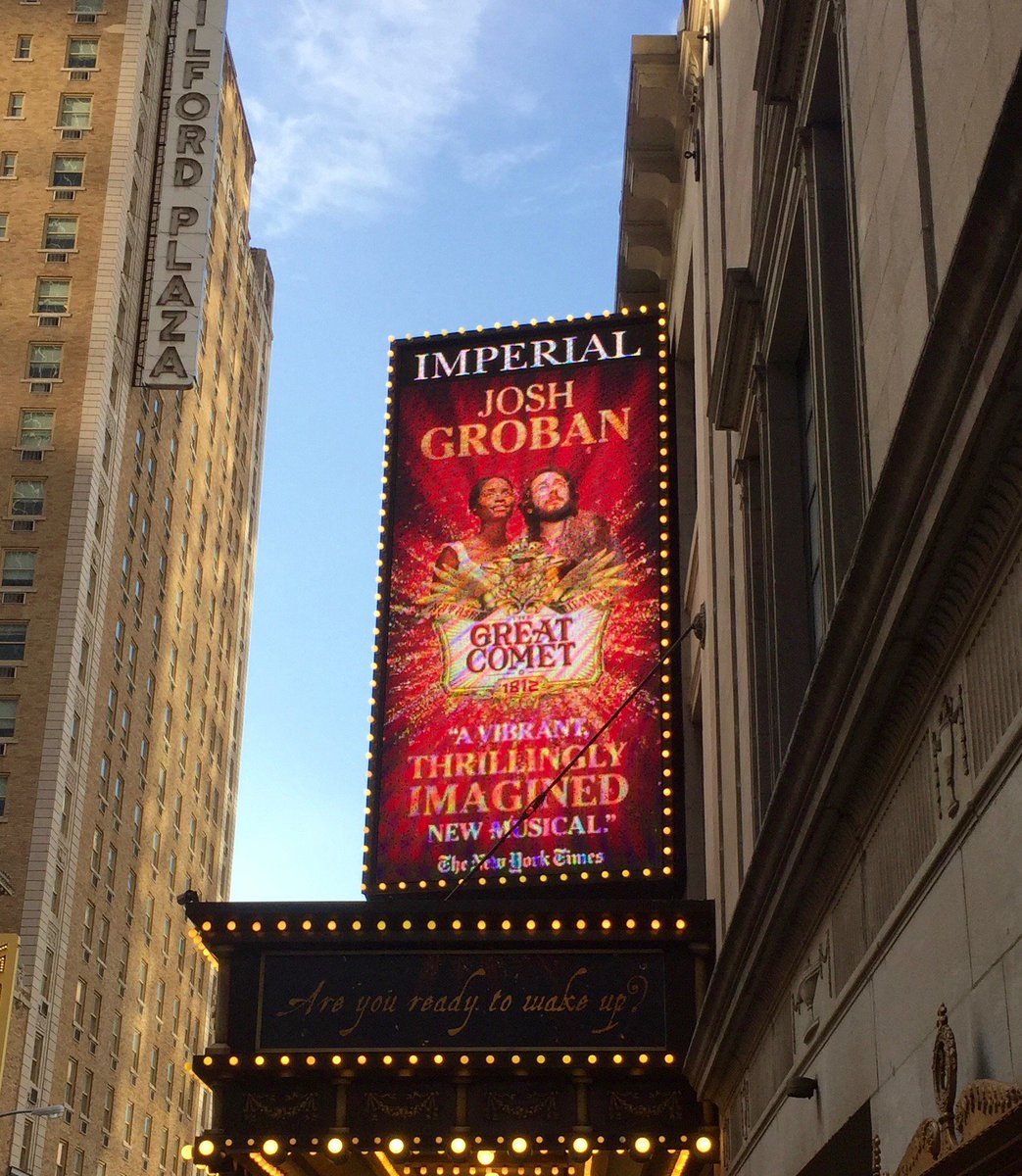 After months of anticipation, @joshgroban finally made his #Broadway debut @GreatCometBway on this day last year- and he did not disappoint!<br>http://pic.twitter.com/CE41QLP1DW
