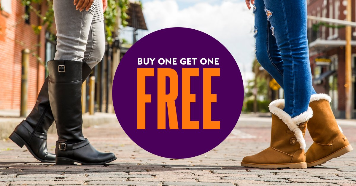 1fdaa00d55b Jumpstart your Fall Overhaul with  BOGO Free boots at  ShoeCarnival!  http   bit.ly 2xP6z1a pic.twitter.com CqXMYjLTJN