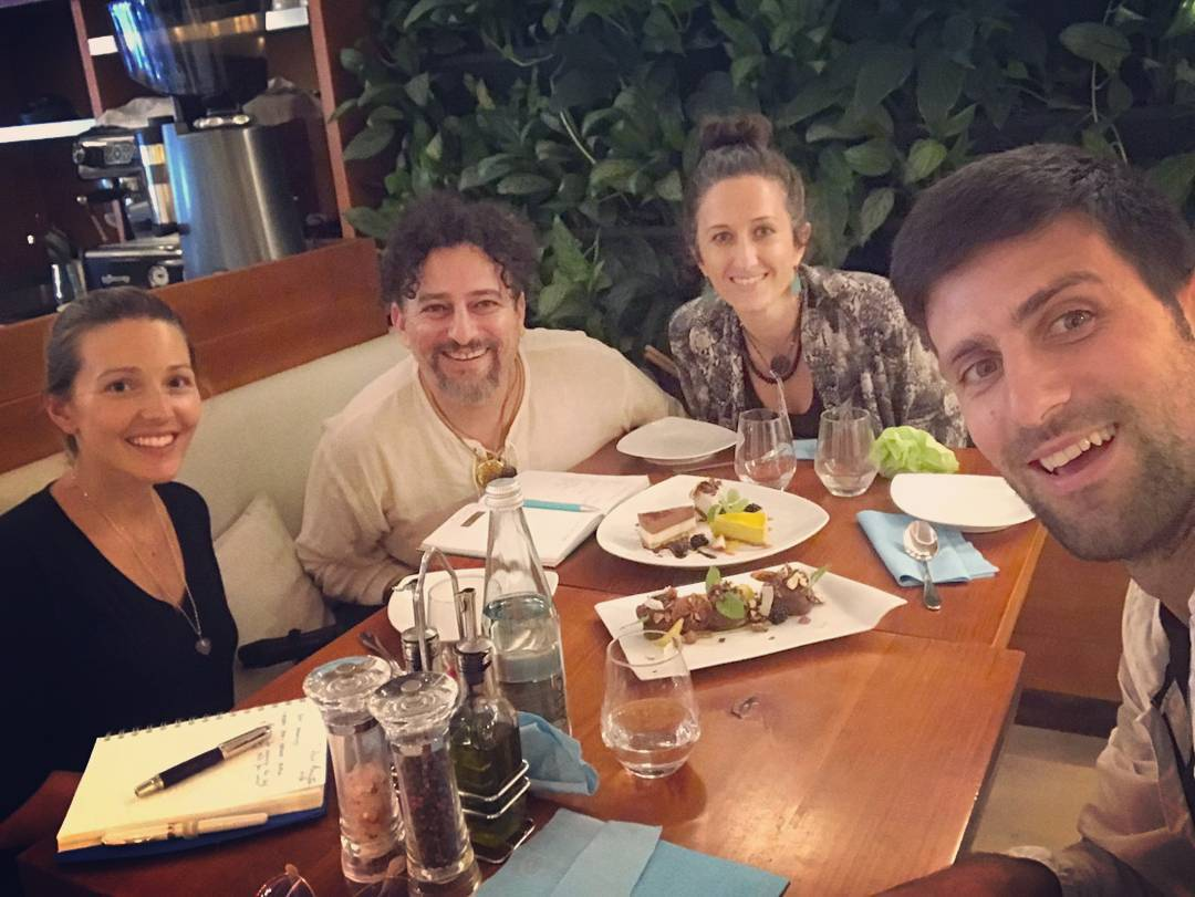 Novak on IG: &quot;Lunch time with friends and my Jelena at @eqvita  New ideas, great atmosphere... Love it! #organicrestaurant #monaco&quot; <br>http://pic.twitter.com/hvCRMTvJcc