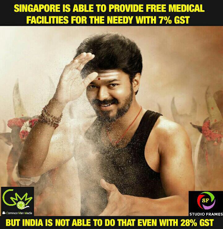 #Mersal  When one of the leading hero of #Indian Cinema speaks about #GST &amp; #Medicine, it creates huge impact. Bold Dialogues @Atlee_dir<br>http://pic.twitter.com/7vzl8Um5qJ