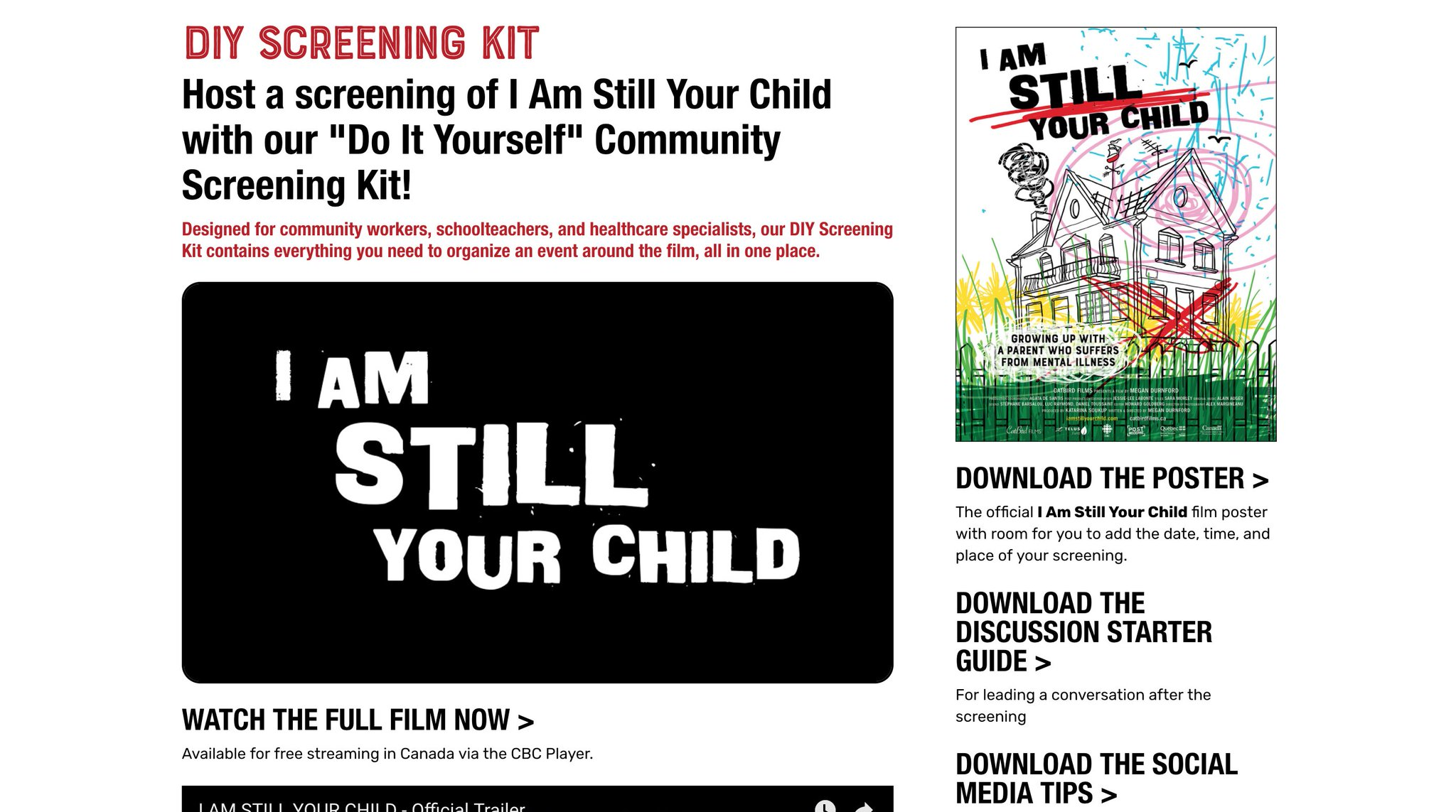 Catbird productions on twitter have you checked out the diy catbird productions on twitter have you checked out the diy community screening kit for iamstillyourchild its free solutioingenieria Choice Image