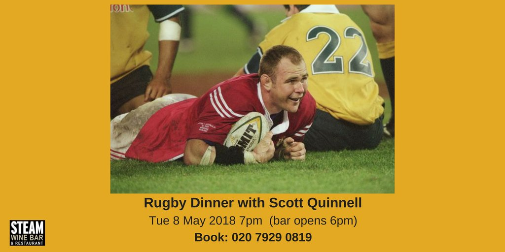 Coming to @steamwinebar in 2018... @ScottQuinnell #rugby #WRU  https:// steamwinebar.com/events/sportin g-dinners/rugby-dinner-with-scott-quinnell/ &nbsp; … <br>http://pic.twitter.com/HqMNhgZu03