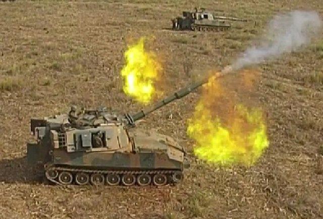 Poderosos fogos da Artilharia de Campanha de tubo do Exército são empregados em operação de adestramento. https://t.co/OaFhr6mHSw