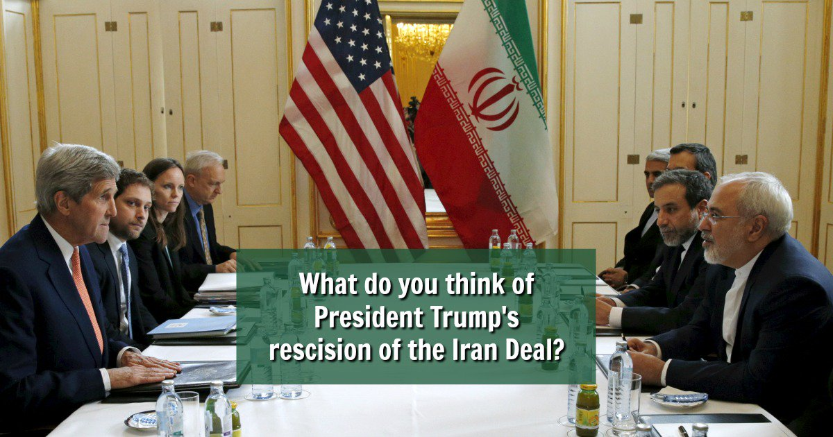 #DailyPoll: What do you think of President Trump&#39;s rescission of the #IranDeal?   https://www. allaboutpolitics.com/what-do-you-th ink-of-president-trump-s-rescision-of-the-iran-deal/daily-poll &nbsp; … <br>http://pic.twitter.com/Sk3PJYxr5P