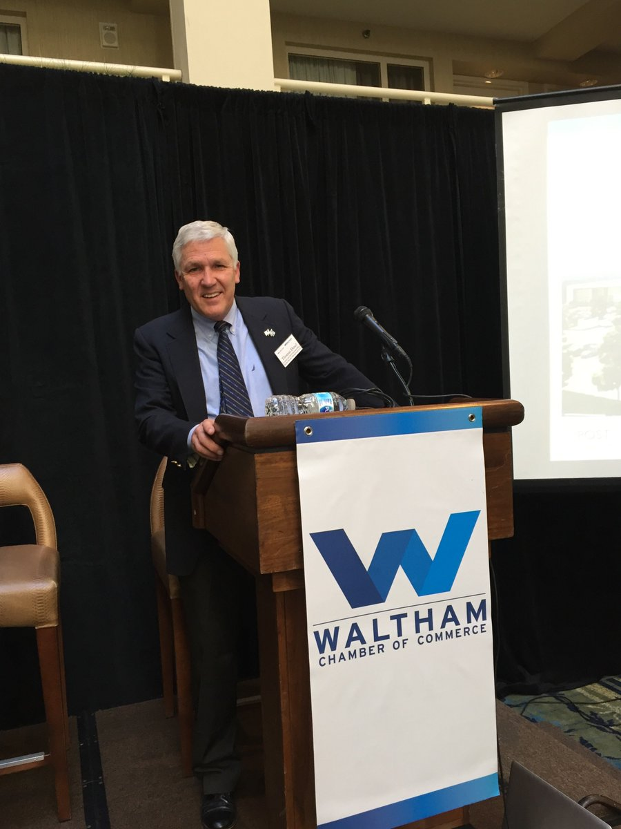 @HobbsBrook President and CEO Tom Dusel offered his perspective on the future of #Waltham at @WalthamChamber #CRE #Outlook <br>http://pic.twitter.com/20DsMKq69T