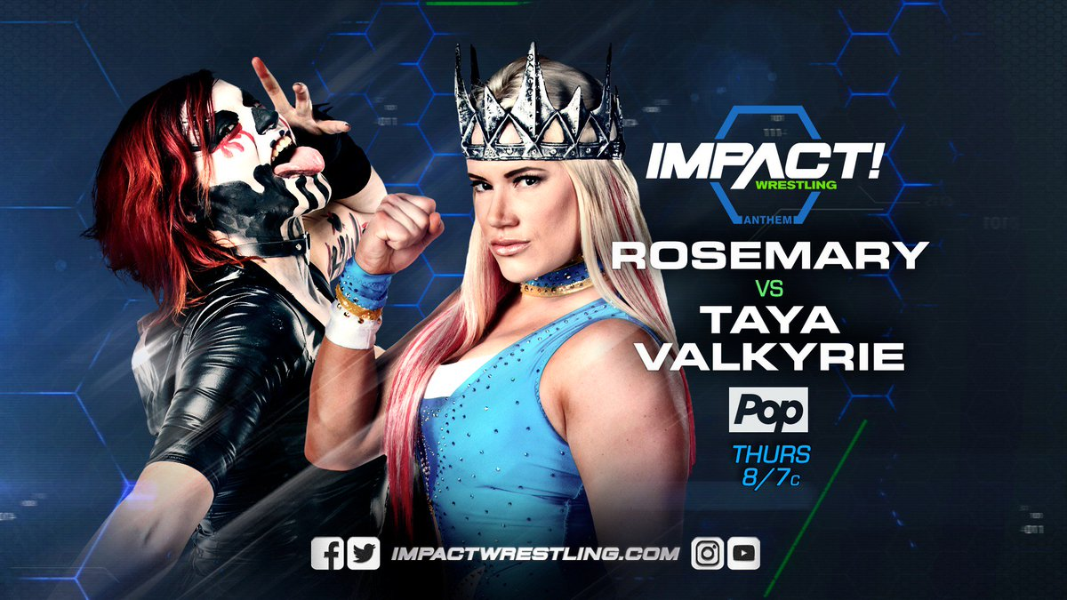 .@WeAreRosemary and @TheTayaValkyrie are on a collision course!  MORE HERE:  http:// impac.tw/TayaRose  &nbsp;    #IMPACTonPop <br>http://pic.twitter.com/28rp1Pvcyw