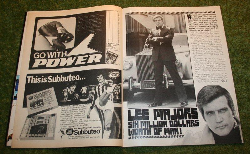 #Subbuteo #advert and Six Million Dollar Man Look-in Comic 1975 <br>http://pic.twitter.com/urHxS3ZtzD