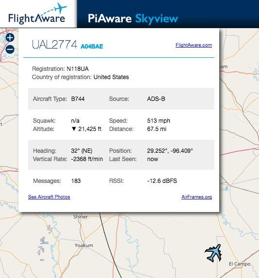 "Uživatel FlightAware ADS-B na Twitteru: "" @united"