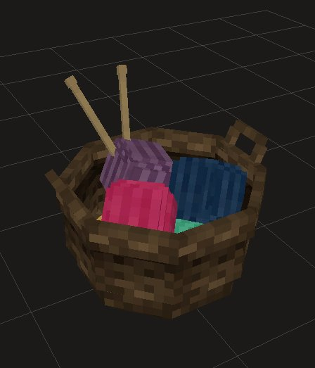 Basket filled with colorful yarn for #Decocraft  #LowPoly #3DModelling<br>http://pic.twitter.com/ncJ8XMMDYA