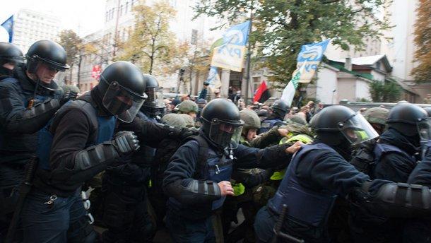 Во время столкновений под ВР задержано 11 активистов. После составления админпротоколов их отпустят, - Нацполиция - Цензор.НЕТ 342