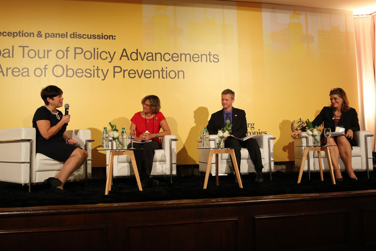 .@drkellyhenning speaks about obesity prevention strategies on the eve of the @WHO Global Conference on Noncommunicable Diseases. #BeatNCDs